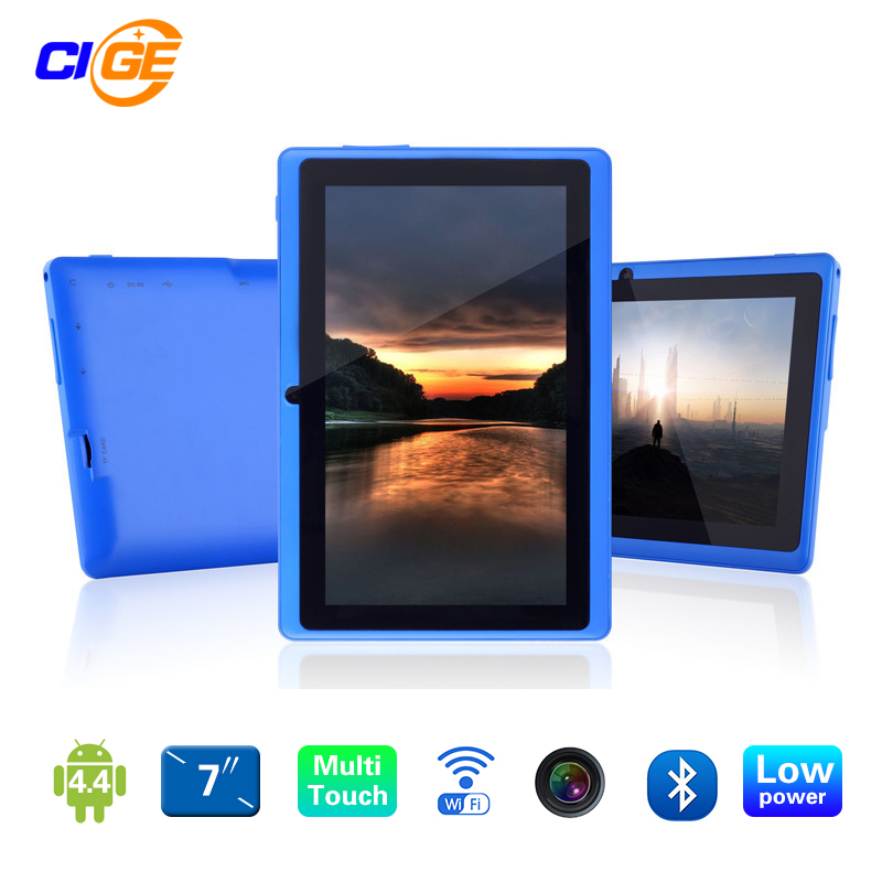 Newest 7 inch Quad Core 1.2Ghz Android 4.4 Q88  Allwinner A33 Tablet PC Dual Cameras wifi Bluetooth yuntab7 inch quad core q88 1 5ghz android 4 4 tablet pc q88 allwinner a33 512mb 8gb capacitive screen 1024x600 dual camera wifi