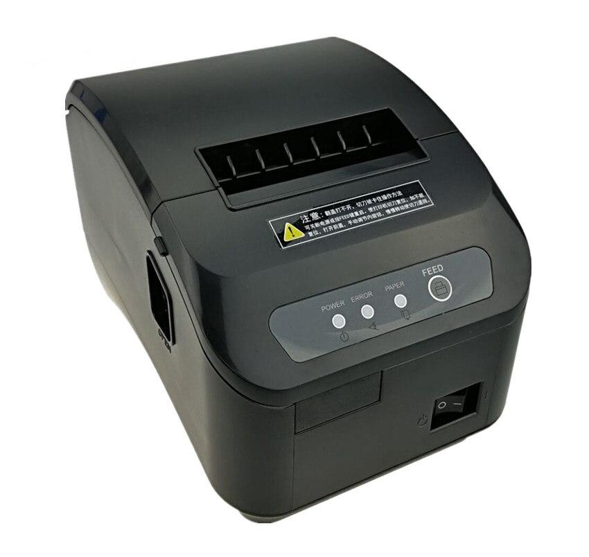 Gros Haute qualité pos imprimante 80mm ticket thermique Petit billet imprimante code à barres automatique de coupe machine imprimante