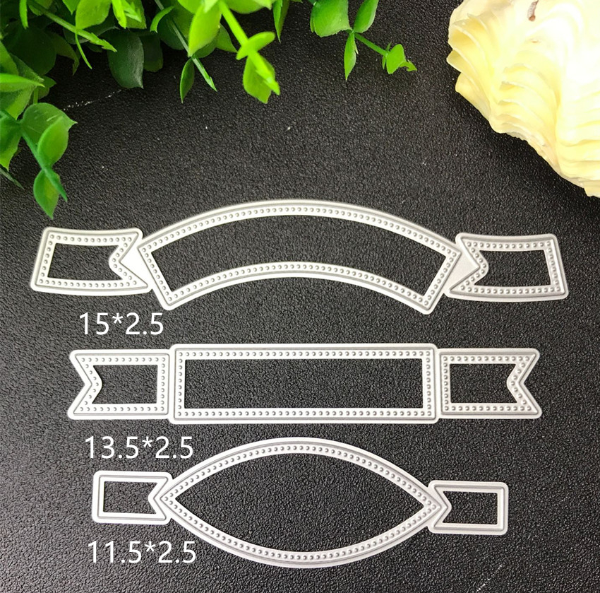 3pcs Label Metal Cutting Dies Stencils For DIY Scrapbooking/photo Album Decorative Embossing DIY Paper Cards Making Proje T12