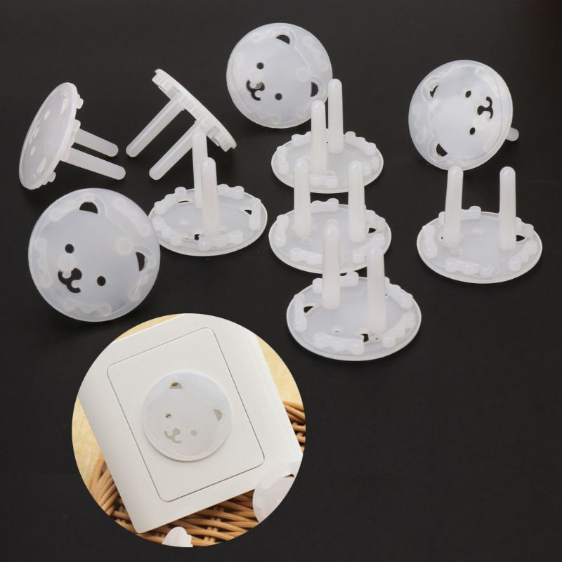 20pcs EU Stand Child Safety Power Socket Cover 2 Hole Electrical Outlet Baby Electric Shock Proof Plugs