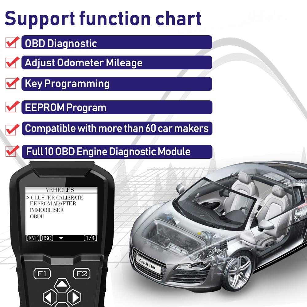 2019 OBDPROG MT601 Car Key Programmer Mileage Odometer Correction Tool EEPROM Pin Code Reader Full OBD2