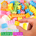 Minitudou 144 unids bebé de inteligencia de plástico ladrillos educativos bloques de construcción de juguetes hechos a mano diy regalos para niños de aprendizaje temprano
