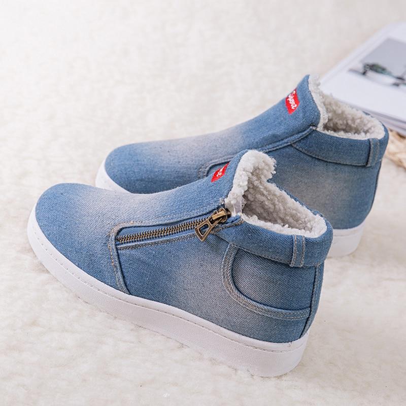 Invierno Plataforma Zapatos Las Botas darkblue Arranque 2018 Señoras Para Caliente Nieve Tobillo La De Azul Mujer Mujeres RpwSp5