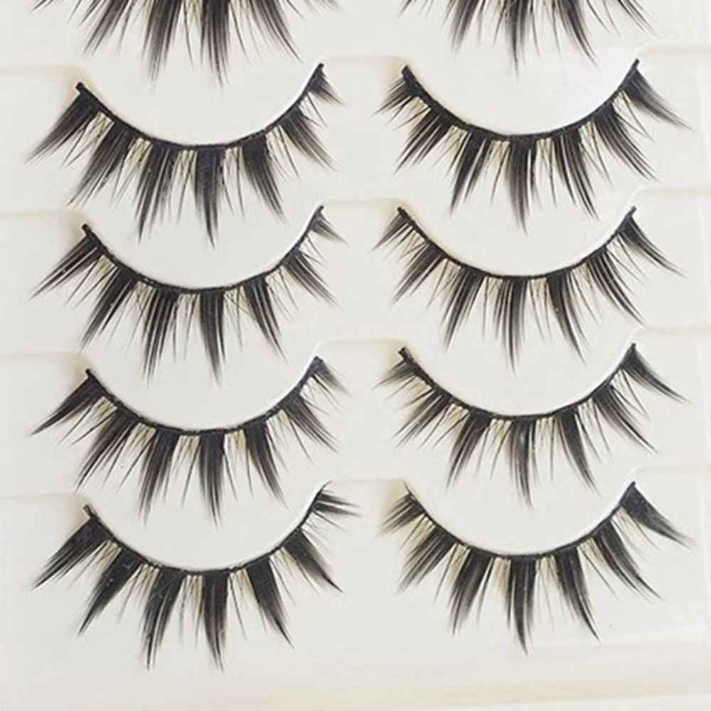 9c2d0a2c8ac 5 Pairs Women Japanese Serious Makeup False Eyelashes Long Thick Natural  Beauty Eye Lash Extension DIY