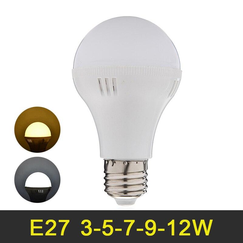 E27 LED Lamp 3W 5W 7W 9W 12W LED Bulb SMD5730 LED Light Super Bright 220V 240V Home Decoration Lighting Warm White/Cold White e27 5w 5 led 430 lumen 3500k warm white light bulb ac 220v