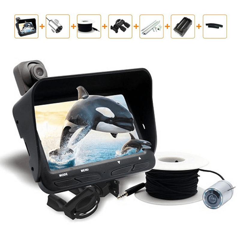 Night vision video fishing camera 2 lens 720p 20m cable for Fishing line camera