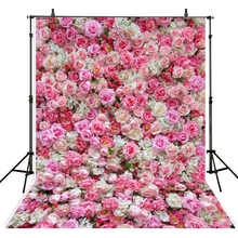 Photography studio backdrops fundo fotografico pink rose flower floral Vinyl backgrounds photo props backdrop photophone S-2551