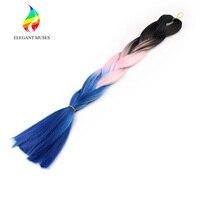 ÉLÉGANT MUSES Produits Synthétique Tresses dans Bundles Ombre Boîte Jumbo Twist Crochet Tressage Extensions de Cheveux 24 Pouces 3 pcs/pack