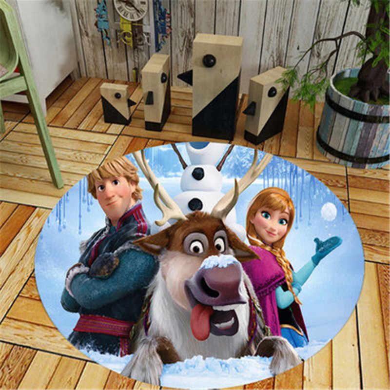 Home decor camera Dei Bambini Tappeto rotondo Disney Del Fumetto Della Principessa Congelati Elsa e Anne stuoia del gioco del bambino Patchwork coperta da picnic.