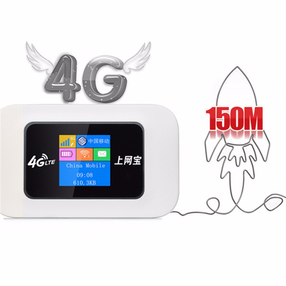 Unlocked Portable 4G LTE USB Wireless Router 150Mbps Mobile WiFi Hotspot 4G Wireless Router with SIM card Slot for Travel 4g lte mobile wifi wireless router hotspot led lights supports 10 users portable router modem for car home mobile travel camping