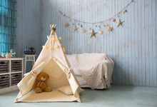 Laeacco Room Interior Sofa Tent Star Baby Newborn Photography Backgrounds Customized Photographic Backdrops For Photo Studio