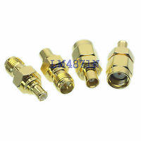Kit Adapter 4pcs Set MCX To RP SMA Type Male Female RF Connector Test Converter