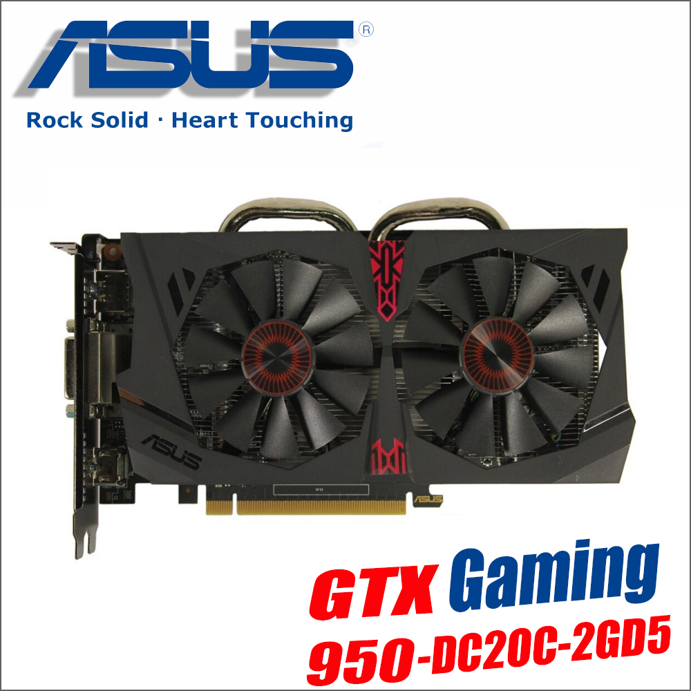 used original ASUS Video Card GTX 950 2GB 128Bit GDDR5 Graphics Cards for nVIDIA VGA Geforce GTX950 Hdmi Dvi game 1050 1050ti