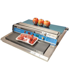 450Mm Stainless Steel Plastic Food Cling Film Wrapping Sealing Supermarket Food Fruit Vegetable Packing Machine