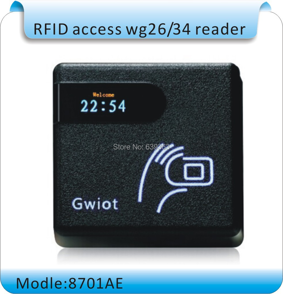Free Shipping Newest 8701AE Waterproof EM rfid reader 125khz ID card reader wiegand 26 output access control