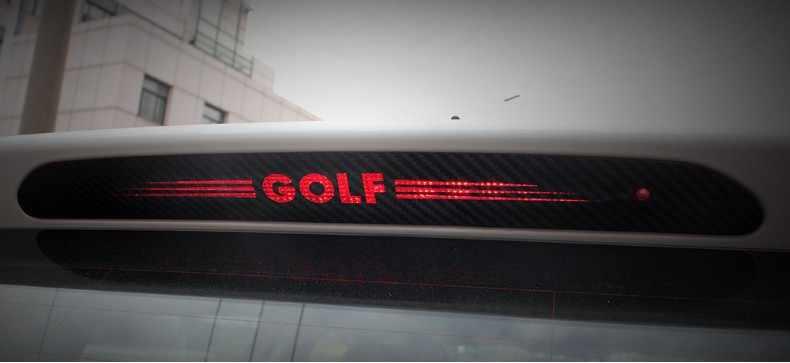 Наклейки из углеродного волокна отличительные знаки высокого установлен Стоп свет лампы стайлинга автомобилей Для VW Volkswagen GOLF 6 7 MK6 MK7 Polo Tiguan
