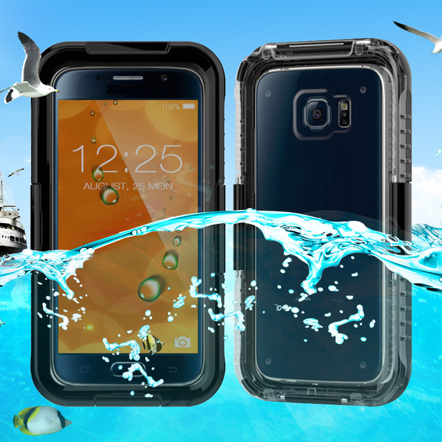 sale retailer 3caf5 e013e US $12.6   S3 S4 S5 S6 S7 Edge Waterproof Outdoor Durable Underwater Dive  Swimming Ultra Rugged Case Cover For Samsung Galaxy S6 Edge Case on ...