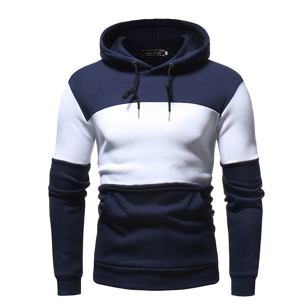 Hoodies Men 2018 Autumn Winter Men'S Sweatshirt Brand Hoodie Fashion Hip Hop Stitching Color Pullover Male Cotton Hoody