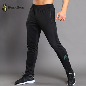 WOSAWE Elastic Soft Cycling Pants Running Sport Mountain Bike Riding Long Trousers Jogging breathable Bottom wearing