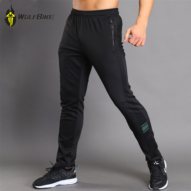 WOSAWE Elastic Soft Cycling Pants Running Sport Mountain Mountain Riding Pantalones largos Jogging transpirable usando parte inferior
