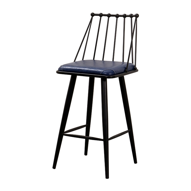 2018 New Style  Unique Simple Round  Iron Stool Salon Chair Stool With Hollow Seat Bar Stool 6024