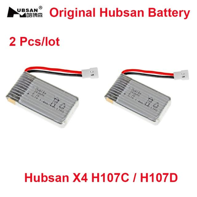 2 Pcs/lot Original Hubsan Battery 3.7V 380mAh Li-po Battery for Hubsan X4 H107C / H107D /CG022/ CG032/ HM1306 JJRC H6C H107-a24