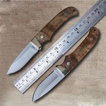 SCHRADE Hunting Tactical Knife Fixed Blade Knife 440C Survival Outdoor Knife Fixed Blade Wooden Handle