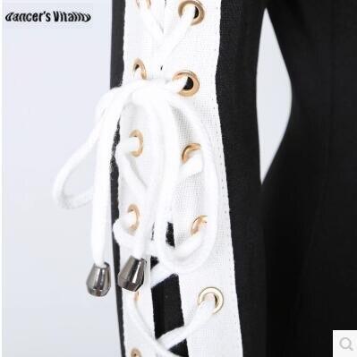2018 боди Для женщин Сценические костюмы для певцов ночной клуб DJ Производительность одежда LED Танцевальный костюм полые бинты бар DS костюм