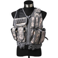 Mesh Tactical Vest Combat Molle Military Multi Pockets Waistcoat with Holster Hunting Waregame Equipment Airsoft CS Training