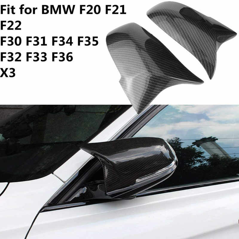 1 Pair Carbon Fiber Car Rear View Mirror Cover Cap For Bmw F20 F22 F30 F31 F32 F33 F36 F34 F35 Side Mirror Cover Trim 51167292