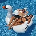 150 cm Gigante Inflável Flamingo Swan Ride-On Brinquedos Piscina Flutuador Inflável cisne Para Piscina de Água Anel de Natação Piscina de Diversão Novos Brinquedos MBF29