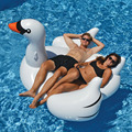 150cm Giant Inflatable Swan Flamingo Ride-On Pool Toys Float Inflatable Swan For Pool Swim Ring Water Fun Pool New Toys MBF29