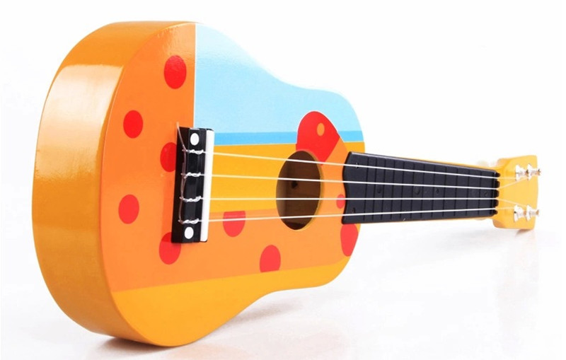 New Wooden toy 21 inch small wooden children's guitar Baby toy Free Shipping