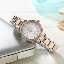 цены Lorinser Luxury Women Quartz Watch Crystal Fashion Stainless Steel Bracelet Watches Ladies Rhinestone  Wristwatch Relojes Mujer