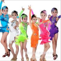 Latin Ăn Mặc Trẻ Em Fringe Ballroom Tango Samba Salsa Phục Thi Nhảy Khiêu Vũ Bán Khiêu Vũ Mặc Khiêu Vũ Latin Váy Cho Cô Gái