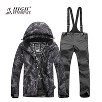 2017 Waterproof Ski Suit for Men Winter Sports Wear Clothing Snowboard Jacket Skiing Snow Pants Skiwear 328 Sale