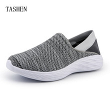 цены Summer Fashion Breathable Comfortable Mesh Mens Running Shoes Lover's Trainers Walking Outdoor Sport Women Lightweight Sneakers