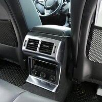 Accessories Interior For Cars ABS Matte Back Air Vent Outlet Cover Armrest Locker Trim Molding For Jaguar F Pace 2016 2017 2018