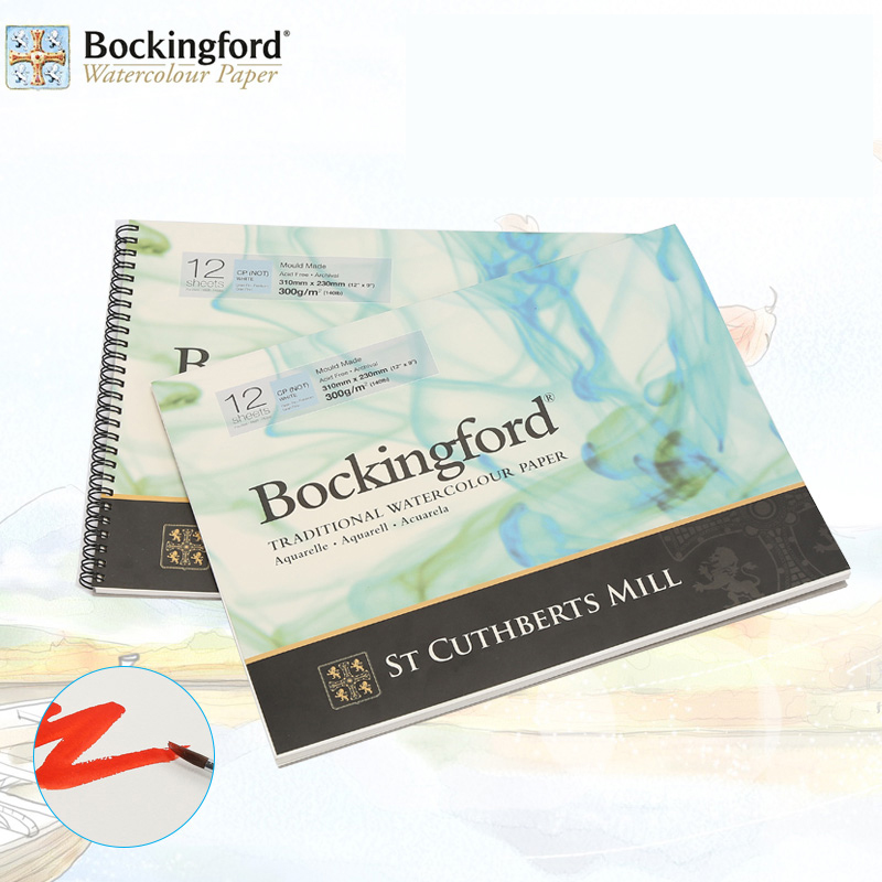Bockingford Watercolor Paper For Painting Drawing Wire Bound Painting Pad Professional Watercolor Paper Art Supplies For Artist