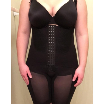 Plus Size Full Body Tummy Control Women's Waist Trainer Underbust Slimming Shapewear Mid Thigh Shaper With Seamless Lace 1