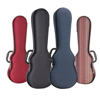 Ukulele Hard Box Case Bag Light Weight Soprano Concert Tenor 21 23 26 Inch Ukelele Gray Red Blue Guitar Accessories Parts Gig