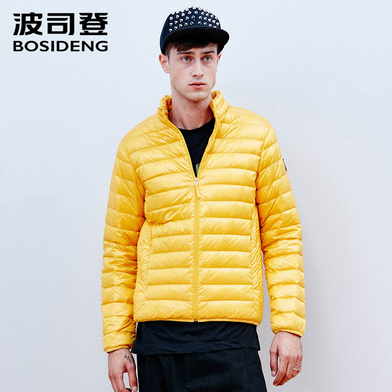 BOSIDENG mens down coat ultra light male jacket large size on sale early winter outwear high quality stand collar B1501013B