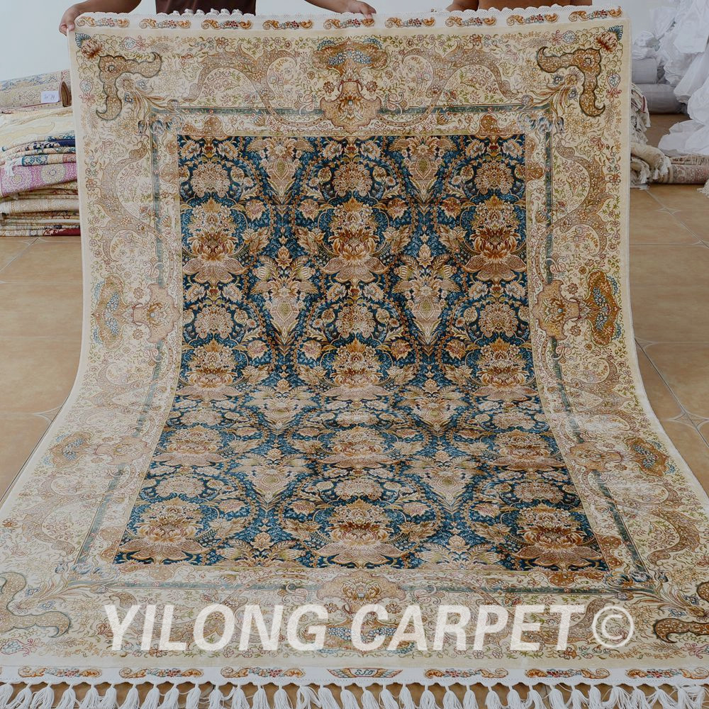 Yilong 5.5'x8' Antique Handmade Turkey Carpet Hand Knotted