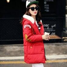 New 2016 winter jacket women Long Casual Fashion Women Parka Female Hooded Coat Brand Parka Plus Size Cold Warm outwear W003