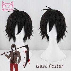 Image 1 - 【AniHut】Zack peruk Anime melekler ölüm Cosplay peruk sentetik 30cm siyah erkekler saç Zack Isaac koruyucu melekler ölüm cosplay saç