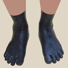 Sexy Black Latex Rubber Unisex Toe Socks Fetish Hosiery Hot Sale Customize service