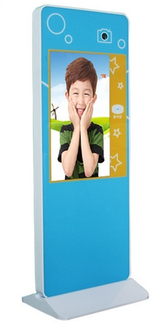 Floor Standing 19inch 21inch Lcd Touchscreen Wifi Camera Fingerprint Face Recognition/ IC Card Electric Attendance Machine Kiosk