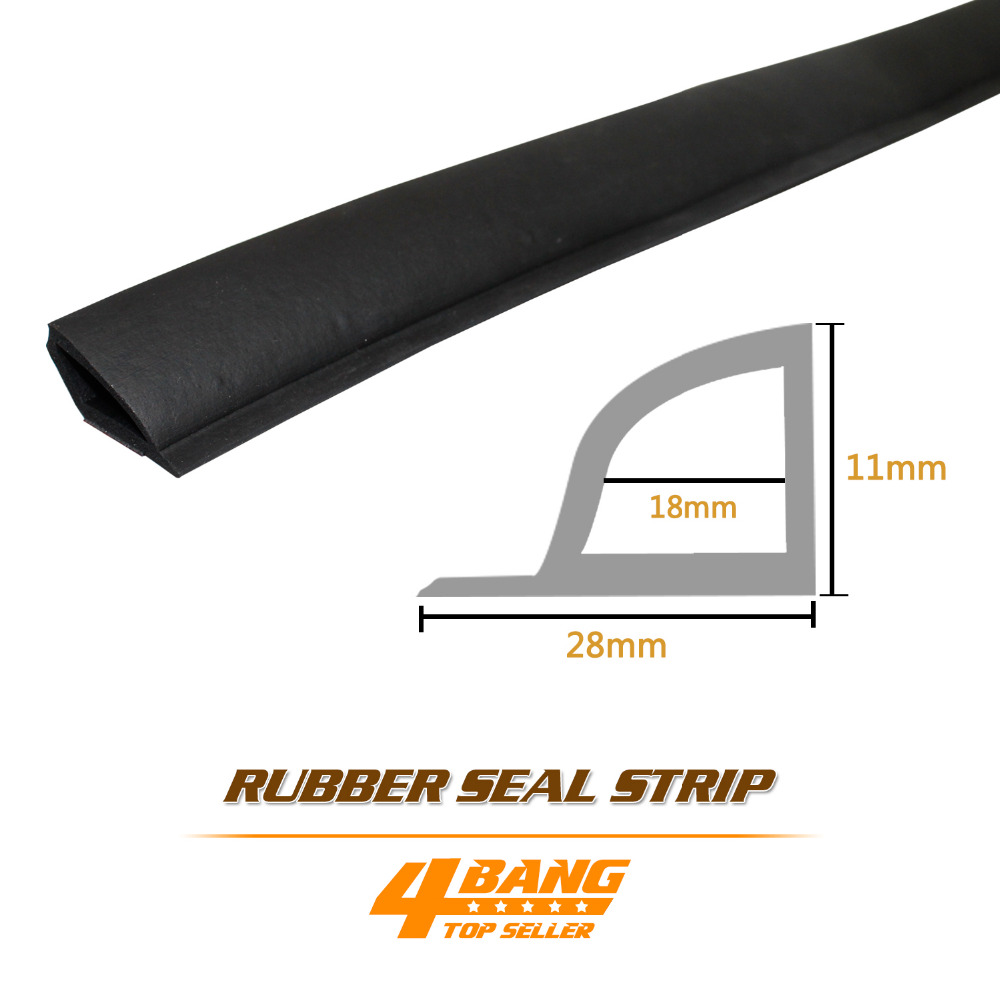 "#62 10 Metre 394"" Sector Trim Pillar Rubber Grip Edge Black Lock Protector Guard Strip Seal Soundproof Dustproof Waterproof