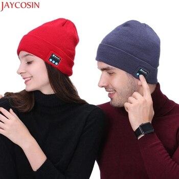 Jaycosin bluetooth Hat female adult ponytail beanie hat balaclava militar Dec21 beanie
