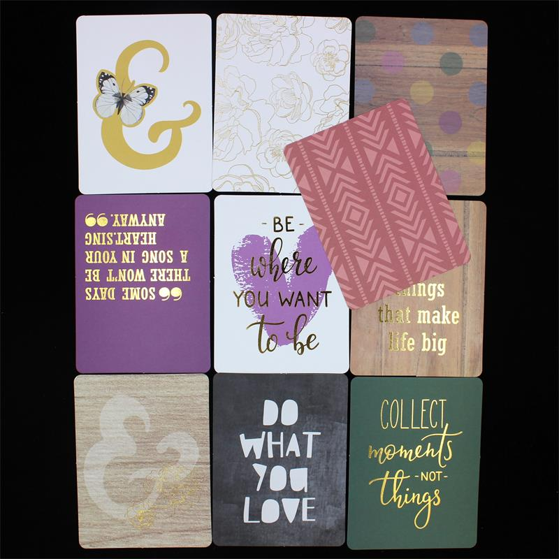 10pcs 34inch double side printed paper pocket cards for